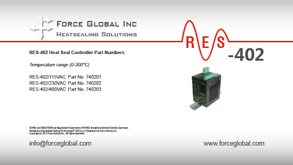 Force Global Ropex RES-402 Heatsealing Solutions