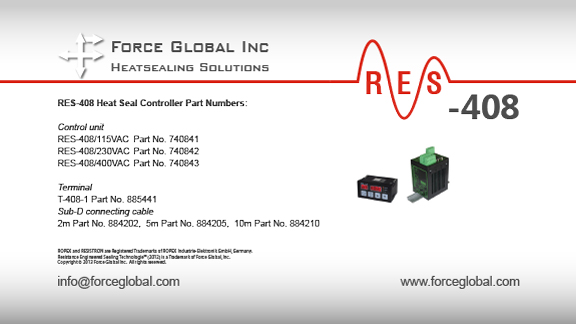 Force Global Ropex RES-408 Heatsealing Solutions
