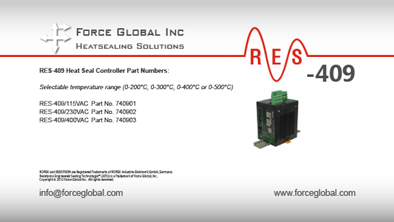 Force Global Ropex RES-409 Heatsealing Solutions